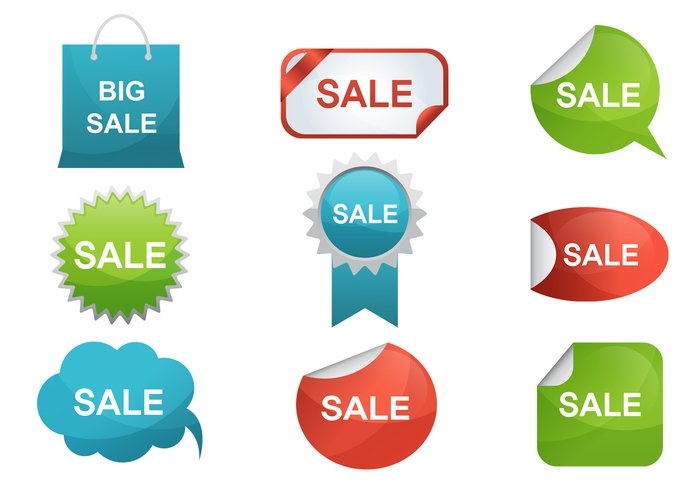 Sale Label Brushes Pack