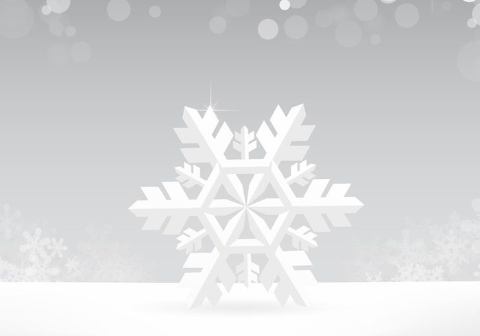 Silver Snowflake PSD Background