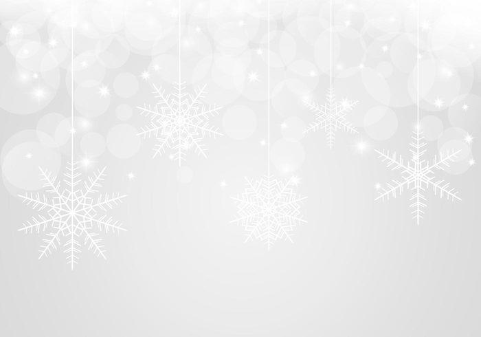 Bokeh Snowflake Background PSD