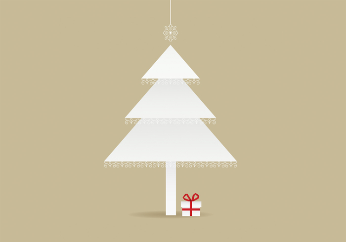 Lace Trimmed Christmas Tree Background PSD