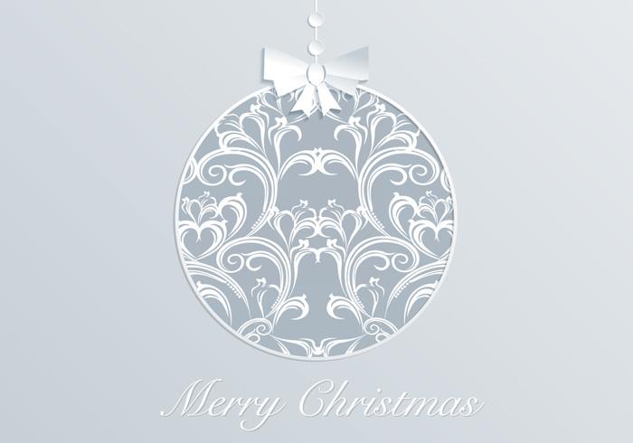 Damask Christmas Ornament PSD