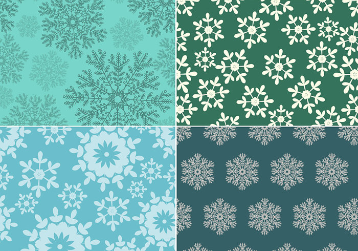 Seamless Snowflake Pattern Pack