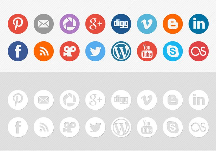 social networking icons psd