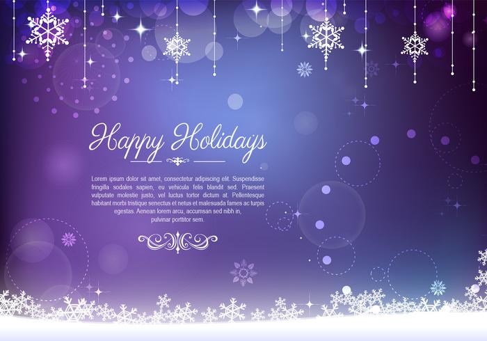 Decorative Purple Holiday Background PSD