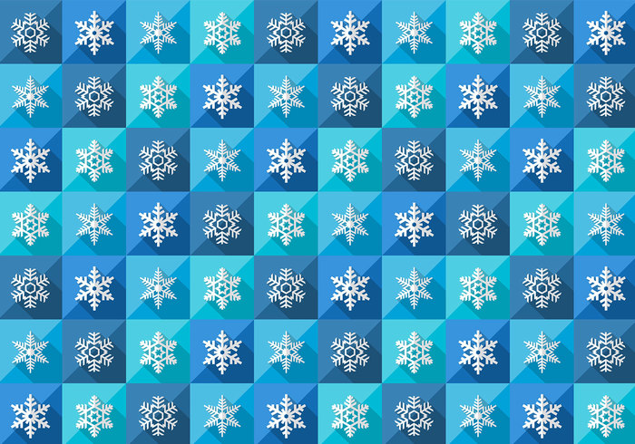 Seamless Winter Snowflake Pattern