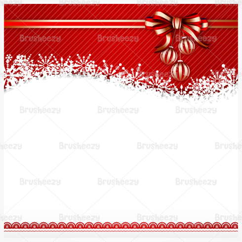 Red Bow Christmas PSD Background