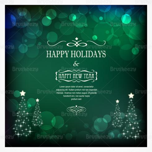 Emerald Bokeh Christmas PSD Background