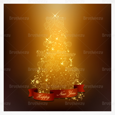 Glowing Christmas Tree PSD Background