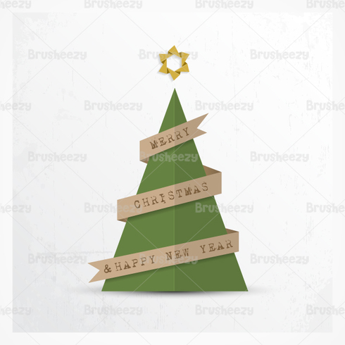 Paper Christmas Tree PSD Background