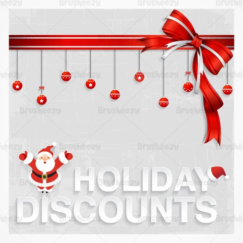 Santa's Holiday Discount PSD Wallpaper