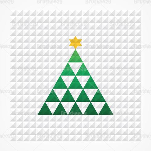 Pyramid Squares Christmas Tree PSD Background