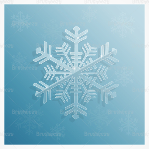 Icy Snowflake PSD Background