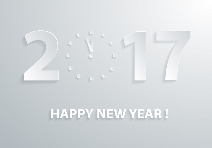 2017 Clock PSD Wallpaper