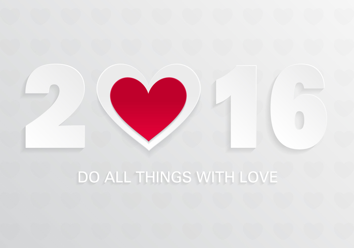 2016 With Love PSD Background