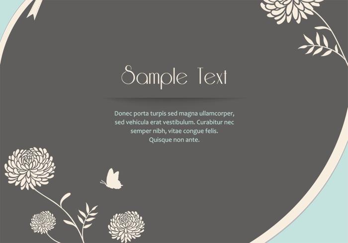 Zinnia Flower Card PSD