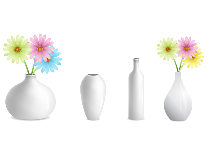 Grey Vases with Flower PSD Pack