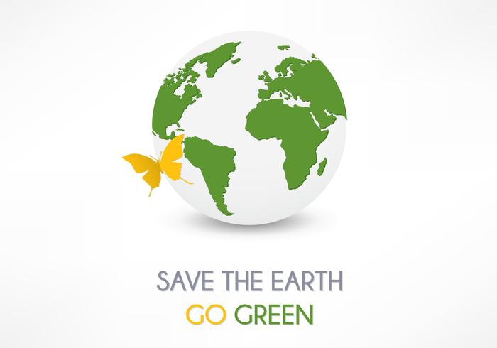 Save The Earth Background PSD