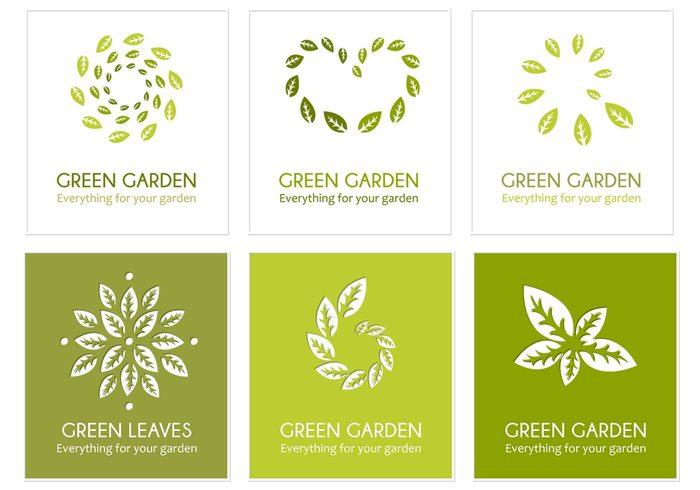 Groen blad logo psd pack