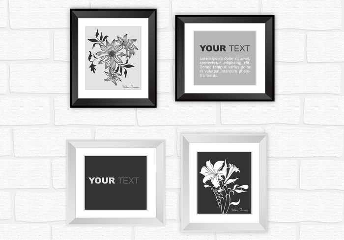 modern silver and black frame psd pack free photoshop