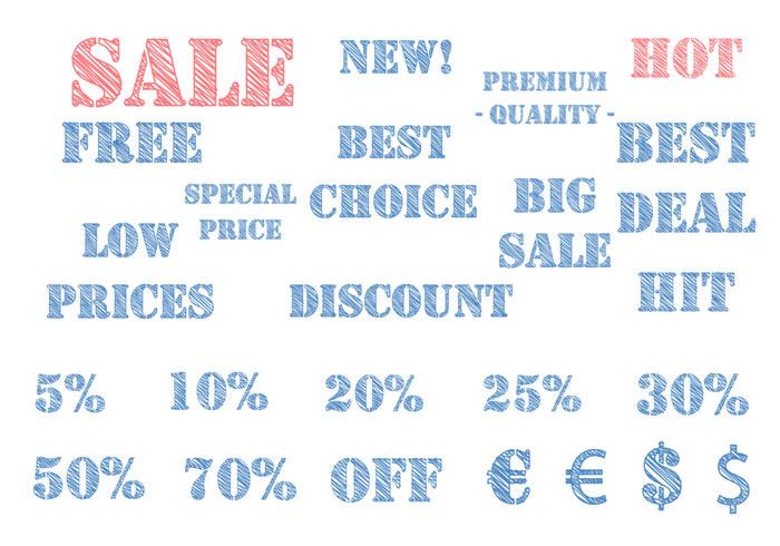 Sketchy E-commerce Label Brushes Pack