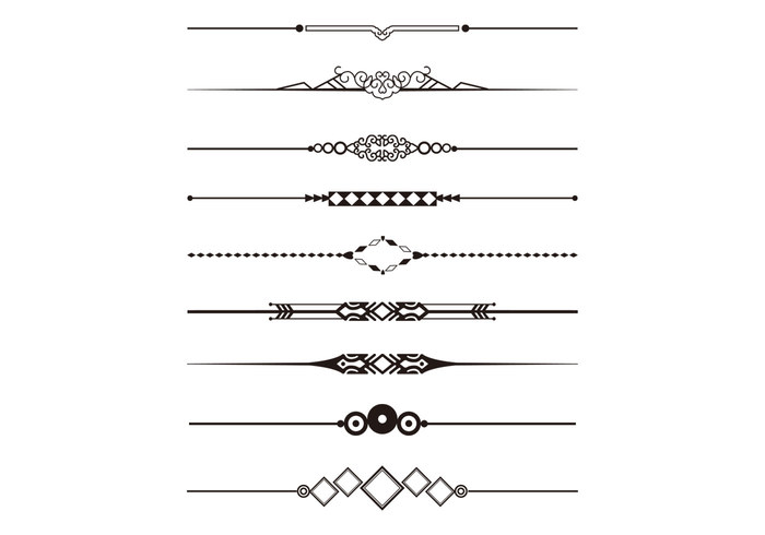 Decorative Divider Brushes Pack