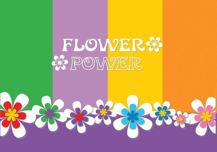 Flower Power Background PSD