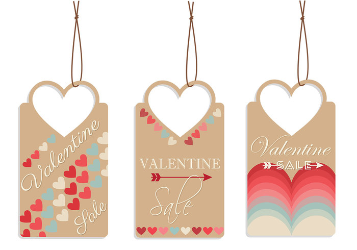 Valentine's Day Tag PSD Pack