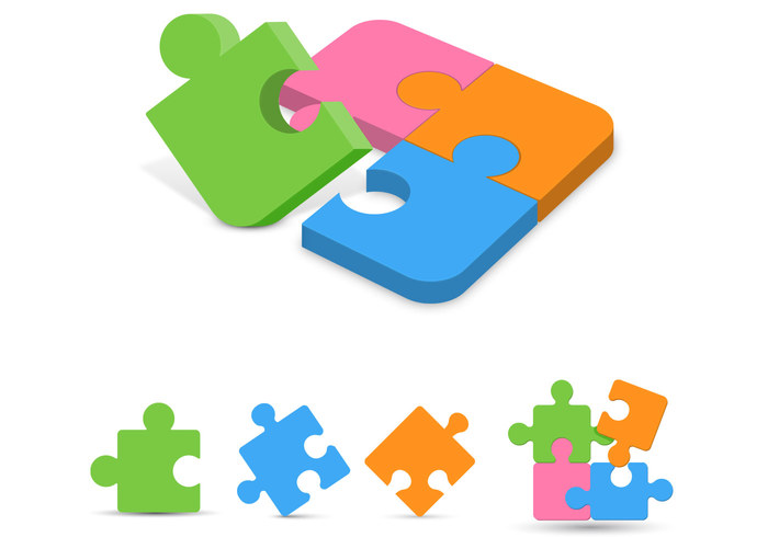 Puzzle Pieces PSD Pack