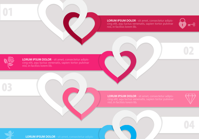 Linked Heart Banner PSD Pack