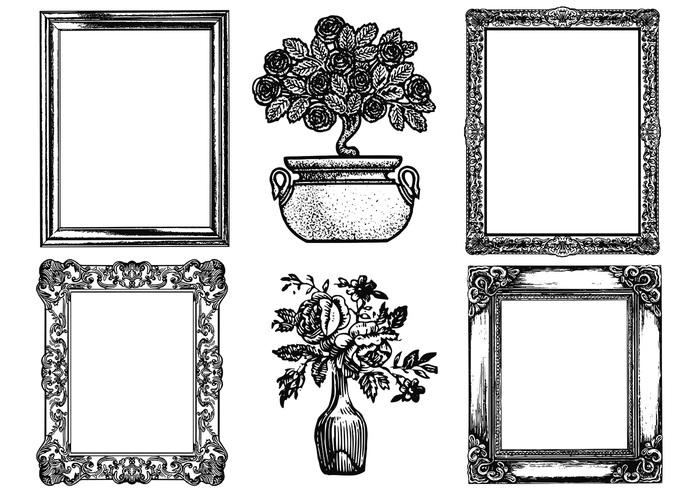 antique picture frames vector. Etched Antique Picture Frame Brushes Pack Frames Vector T