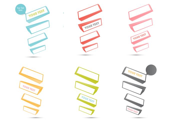 Cuadro De Texto 3D PSD Paquete