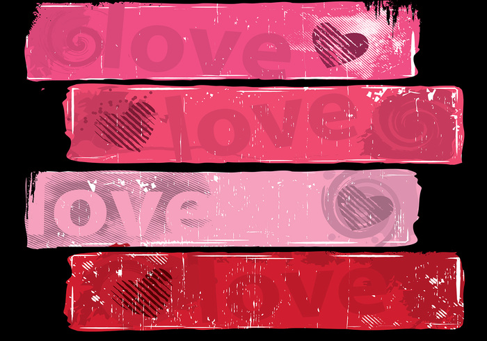 Grungy Love Banner Pack