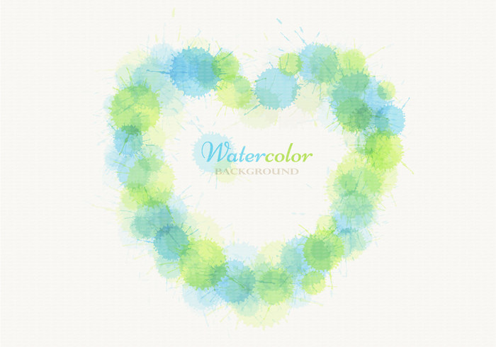 Watercolor Heart PSD Background