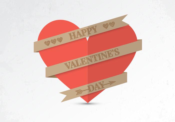 Paper Valentine Heart PSD Background