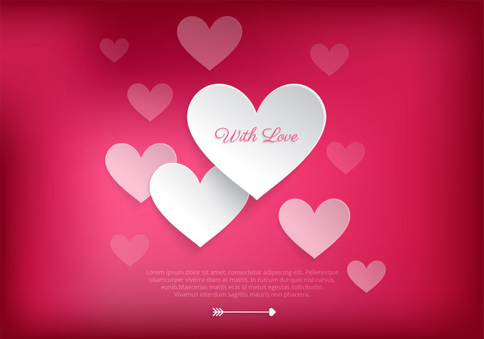 Loving Heart Valentine PSD Background