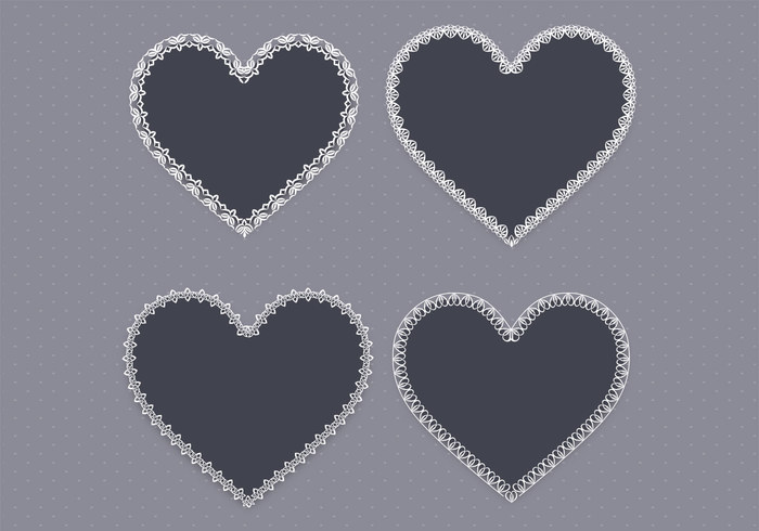 Black Lace Heart PSD Pack Two