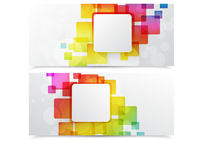 Colorful Abstract Square Banner PSD Pack