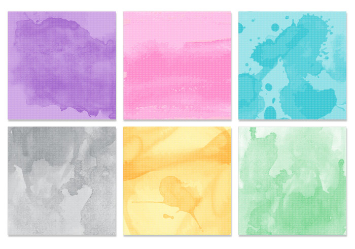 Watercolor Texture PSD Pack