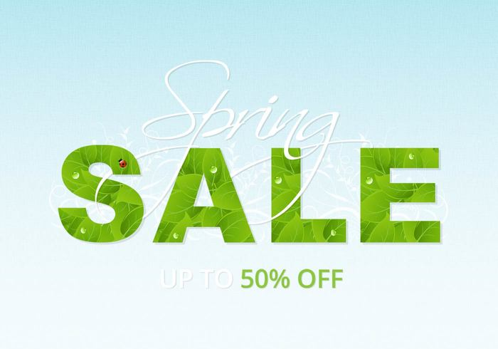 Spring Sale Background PSD