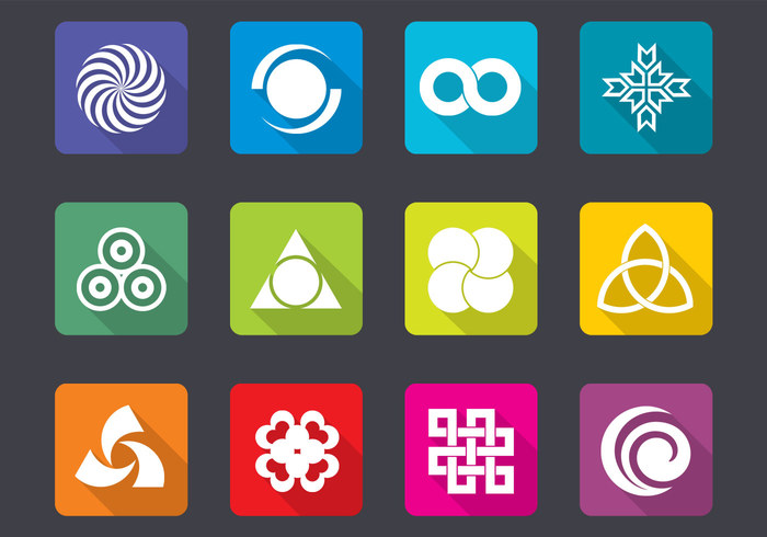 Bright Design Icon Brushes and PSD Pack