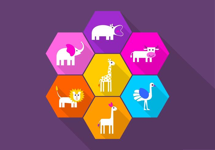 Playful Animal Icon PSD Pack