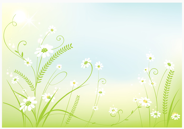 Swirly spring background psd