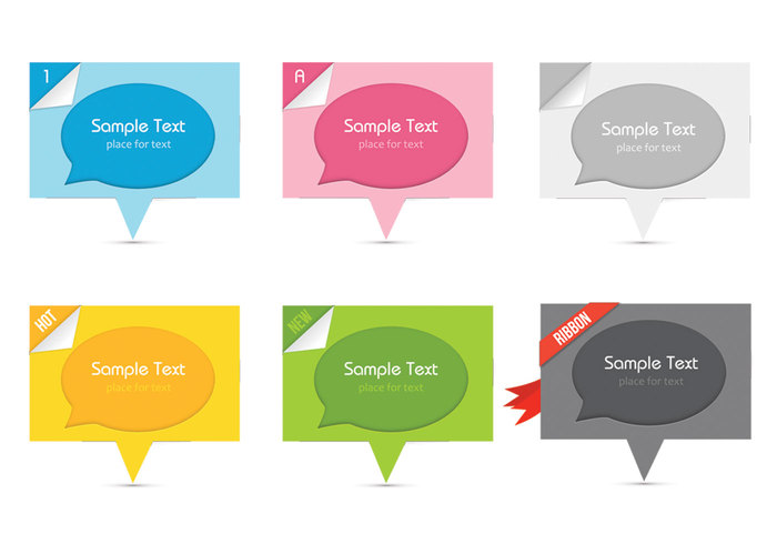 Speech Bubbles Cutout PSDs