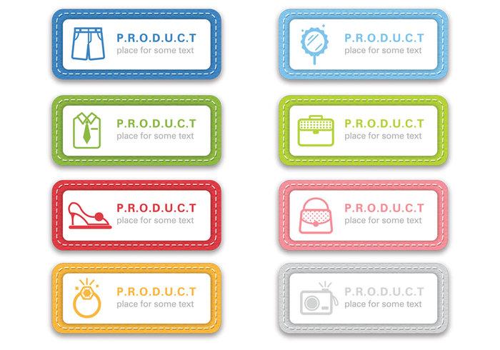 Étiquettes en tissu cousues PSD