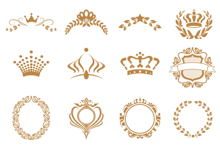Crown Brushes and Wreath Brushes Pack