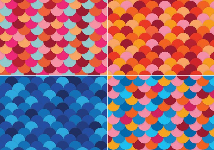 Colorful Fish Scale Backgrounds PSD