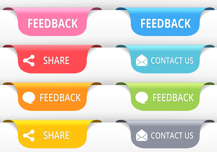 Feedback Tab Buttons PSD