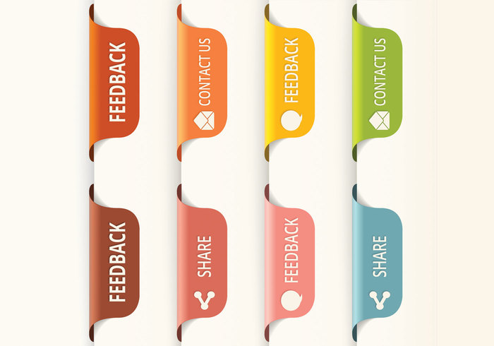 Vertical Feedback Tab Buttons PSD - Free Photoshop Brushes at ...
