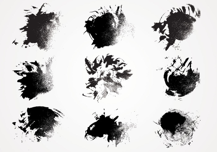 Ink Paint Texture Brushes