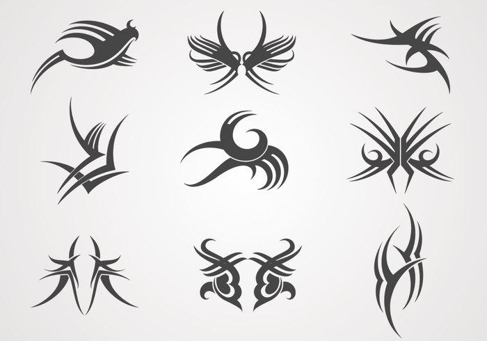 Paquete de cepillos de tatuajes pinceles de photoshop for Non ducor duco tattoos designs